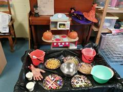 Senior Infants were very busy making a Witch