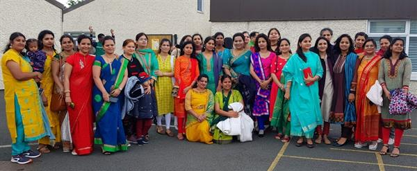 Intercultural Day - Parents and Children in their Traditional Costumes