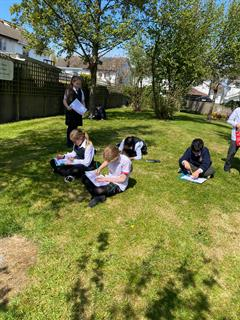 Enjoying our Outdoor Classroom