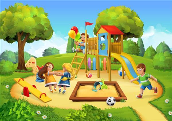 Ms Fallon's Junior Infant Class having great fun at Blackthorn Park  Playground