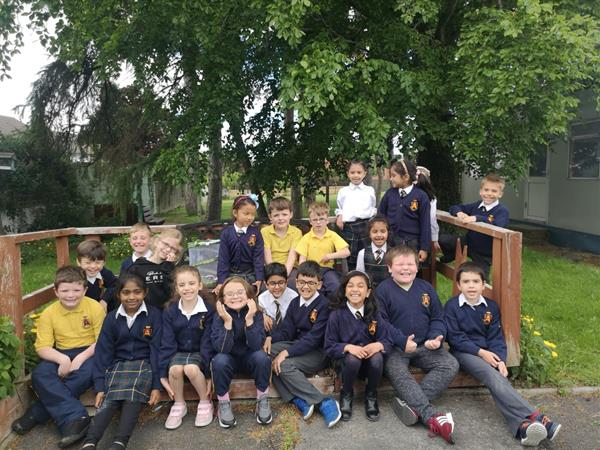 Ms O'Higgins' Class finally release their butterflies!