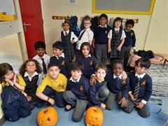Carving Pumpkins in Ms Downes