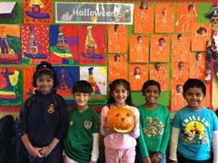 Carving Pumpkins in Ms Butler